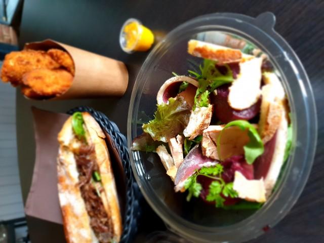 Le Family Salade Foie gras magret séché